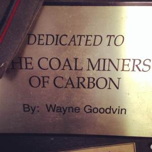 From the coal mining artifacts in the Carbon Community Hall. Carbon, IA in Adams, County