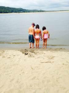 Testing the waters. Sabula, IA