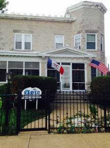 The Castle Bed and Breakfast overlooks the Mississippi on historic River Street in Sabula, IA.