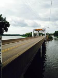 One of the bridges that leads into Sabula, IA. The mighty Mississippi on both sides.