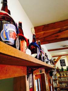 In case you were wondering just how awesome the beer is at this establishment. Look up and you'll see the legion or award winning beers. At the Millstream Brewing Co. in Amana, IA.