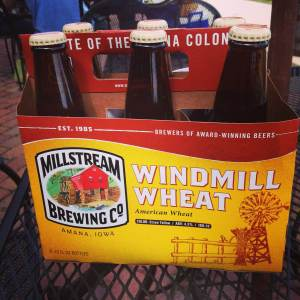 Off to a thirsty home! At the Millstream Brewing Co. in Amana, IA.