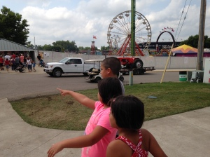 This reminds me of the Lewis and Clark logo. The State Fair expedition begins! In Des Moines, IA.