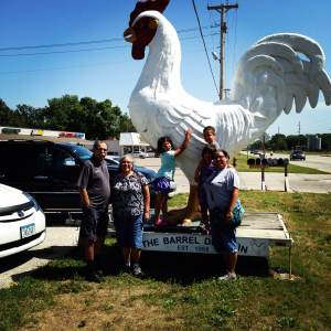 There's a big dang chicken out front. That means order the chicken. The legends says...trust the chicken statue. The Barrel Drive-In. Clear Lake, IA.
