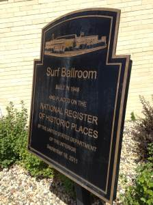 On the register of historic places. At the Surf Ballroom in Clear Lake, IA.