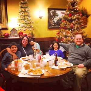 Say frog legs! Thanks to Breitbach's Country Dinning we have our family Christmas picture accomplished.