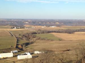 Quite possibly Iowa's greatest overlooks. Balltown, IA