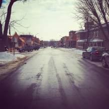 January: Historic Main Street Mount Vernon, IA.