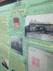 The Johnson County Historical Museum has information on every Johnson County town including the ghost towns of the area. These places have made it to our Iowa Gallivant to-do list.