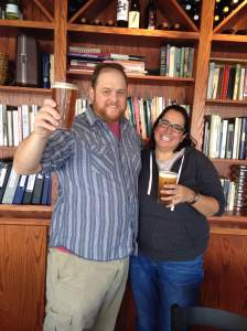 Local-Beer me! Vesta has a huge collection of cookbooks that their customers are welcomed to flip through. Thanks for the Big Grove Rabbit Rye! http://www.biggrovebrewery.com/