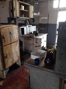The Lone Star's proud galley. Positioned right by the main engine of the steamboat.