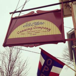 LeClaire Canning Company has a great selection of salsa, jelly, pickled everything and local honey.  http://www.leclairecanningcompany.com/
