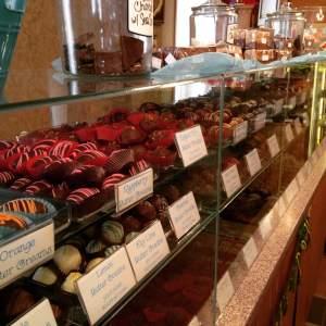 Chocolate row at The Shameless Chocoholic. Ahhhhh...good times.