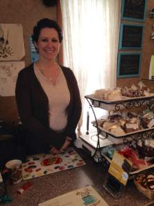 Working the Chocoholic's  counter is Jen. One of the owners of The Shameless Chocoholic and part owner of the Java House next door and the guest house upstairs. And your day off is when?