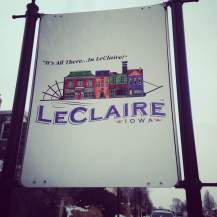 The LeClaire visitors center is right on the main drag. They have a great website that showcases all the great events in the area. http://www.visitleclaire.com/events.html