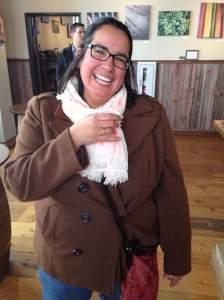 Monie having a sample of the River Baron Artisan Spirit with Italian soda at the MRDC. https://www.facebook.com/mississippiriverdistilling