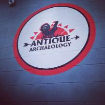 The Antique Archaeology emblem shines on Team Goodvin as we make our way in to their rusty showrooms. http://www.antiquearchaeology.com/