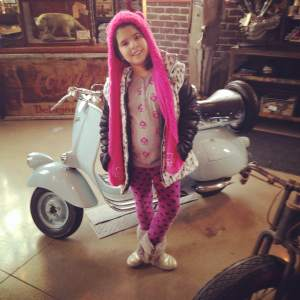 Team Goodvin's number one fan of American Pickers! Leah standing in front of a classic Vespa Scooter. Just think.....Frank may have sat on this. (Sorry Mike and Danielle and Mike. She's a Fritz fan) https://www.facebook.com/AmericanPickers