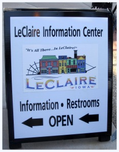 Cindy Bruhn and everybody at the LeClaire Information Center. Cindy helped us with our schedule and was available every step of the way.   https://www.facebook.com/LeClaireIowa
