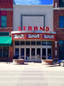 The Strand Theater is a downtown Grinnell icon.