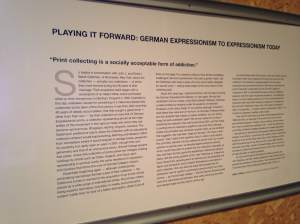 German Expressionism was the theme for our visit at the Bucksbaum Center at Grinnell College.