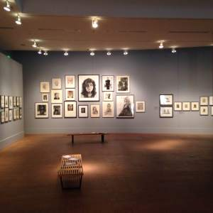 A far look at the art gallery at the Buckbaum Center on the campus of Grinnell College in Grinnell, IA.