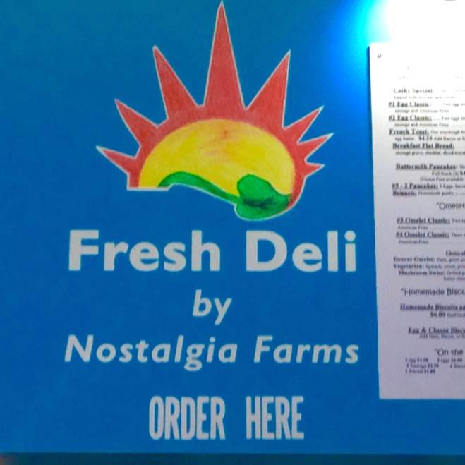 "Local, local, LOCAL! Ed Kraklio was expediting the orders and working the dinning room today. Fresh Deli's passion can be sensed from when you walk in, while mulling over the menu and during the entire experience. ""Local Ingredients Made Fresh"" is their motto! http://www.nostalgiafarms.com/"