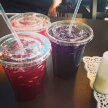 A trifecta of homemade sodas from Fresh Deli in Daveport, IA. They make their own syrup and use their own Nostalgia Farms berries and grapes in these flavor varieties. On tap today was raspberry, huckleberry and concord grape! https://www.facebook.com/FreshDeliNostalgiaFarms?fref=ts