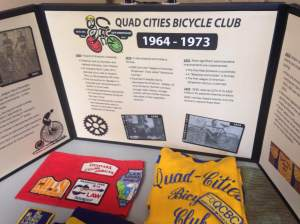 A long set of tables displays the history and artifacts of the QCBC and how it's grown to be the 6th largest bicycle club in America. No I didn't know that before toady and yes I learned it from the nice man who took the time to explain its significance. Yes I did drop this factoid later in the day, but it shows that I listen from time to time, Monie! https://www.facebook.com/pages/QCBC-Quad-Cities-Bicycle-Club/348675021103?fref=ts