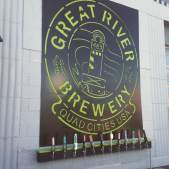 The hop-green colored sign caught our eye and we gave this fine taphouse all the attention we could. http://greatriverbrewery.com/