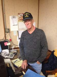 Meet Rocky. The proud owner of Rock's Anchor Grill. He's a proud veteran of the Navy and of the restaurant business. He's earned his scrambled eggs in our book. Thank you, Rocky and all the veterans you serve everyday that love your restaurant staff.