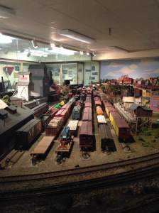 The Cedar Falls Historical Society has one of the most impressive train sets I've ever seen. Jean wouldn't let me play with it though. I kicked a rock all the way back to Main Street.