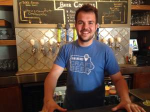 Today's tap-master was Austin and his unwavering loyalty to all the beers he helps brew and pour.