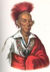 Chief Black Hawk. Born in Saukenuk, IL. Died in Davis County, IA and laid to rest near Selma, IA.