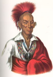 Chief Black Hawk. Born in Saukenuk, IL. Died in Davis County, IA and laid to rest near Selma, IA.