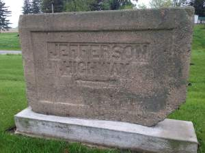 Also on the self guided tour is this original Jefferson HWY monument.