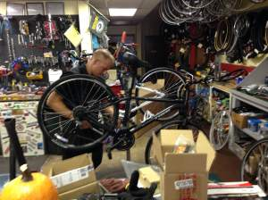 Caught you working Chris! The Bike Shop will sure to be rocking all RAGBRAI long. If it's up to this guy it will be! http://www.thebikeshopfd.com/