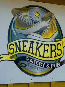 TV's, beer, yummy bar food and friendly service. Equals our afternoon at Sneakers. https://www.facebook.com/pages/Sneakers-Eatery-Pub/167411226656719?fref=ts