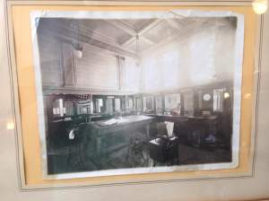 A great picture of Ladora Savings Bank from the early years. As you can see the modern bistro has maintained much of it's originality.