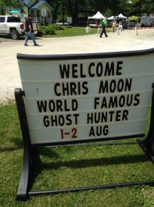 Did you think we were kidding? Chris Moon will be doing his own investigation of the Mason House Inn. Whether your a skeptic or not, ghost hunters are some of the best historians you can meet. There's the details you can find in the media and general records. And there's the stories that only the locals know.