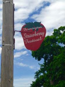 The majority of Farmington's light poles have this familiar advertisement. And the festival is just around the corner!  http://www.farmingtoniowa.com/strawberryfestival.html