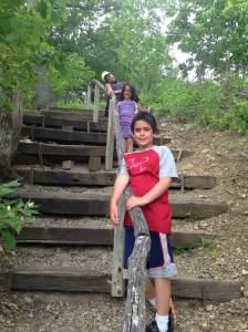 Take a hike! Charlie, Leah and Gigi said
