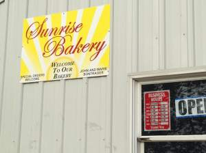 The Sunrise Bakery is located at 31154 210th Street near Bonaparte, IA.