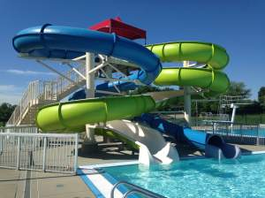 The water slides at the North Liberty Aquatic Center.  http://northlibertyiowa.org/city-services/aquatic-
