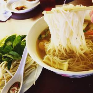 A bowl of Pho is one of the best energy punches that anyone can get. Little Vientiane will it;s noodles and vats of steaming broth prepared for any rider.