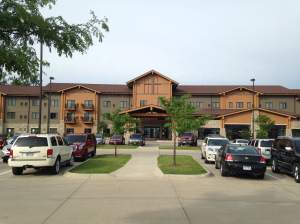 The entrance to Kings Pointe has the look of a huge lodge. The staff was on top of their game as they were preparing for a very busy weekend. http://www.kingspointeresort.com/
