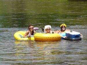 The bachelorette party of the century was floating with us for half of the day.
