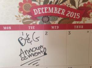 Our calendars are marked and soon many Iowa restaurants will have there's marked too. Dec 1st, 2015. The B&G party for the ages!