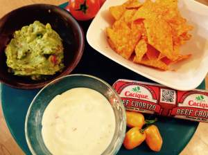 Here's just a few ingredients we pulled from the shelves to make our version of Taco Pizza! Beef chorizo, guacamole, chili con queso sauce and the must have original flavored Doritos!