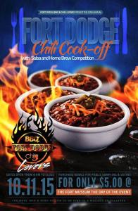 The Fort Dodge Chili Lover's Society was holding their 33rd annual Chili Cook-Off and that's all we needed to hear. ROAD TRIP!